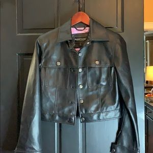 Rampage black faux leather jacket small  like new